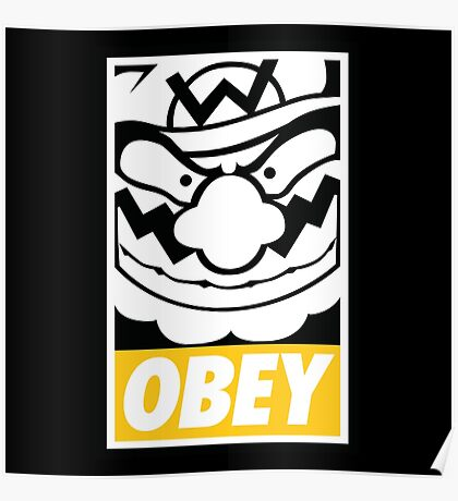 OBEY WARIO Poster