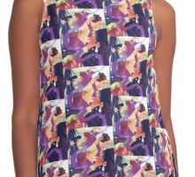 Purple Ribbon Contrast Tank