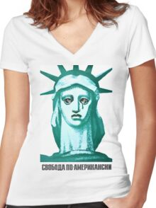 American Liberty Women's Fitted V-Neck T-Shirt