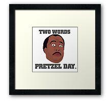 Stanley Hudson Pretzel Day Framed Print
