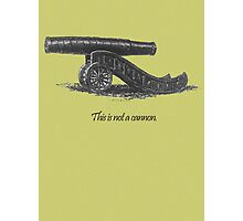 This is not a cannon. Photographic Print