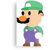 Minimal Luigi Metal Print