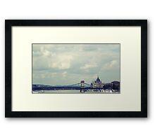 Budapest panorama Framed Print