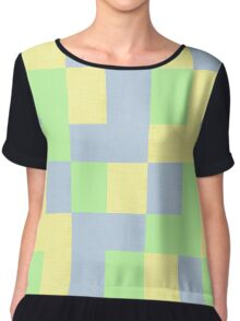 texture with tracery figured pattern Chiffon Top
