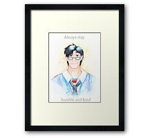 Words of Superman Framed Print
