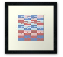 Abstract multicolor vector Framed Print