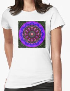 Surreal Blossoms, Flower Mandala Womens Fitted T-Shirt