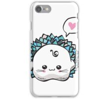 kawaii cute hedgehog on a white background iPhone Case/Skin