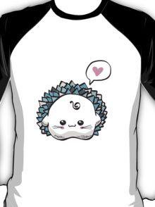 kawaii cute hedgehog on a white background T-Shirt