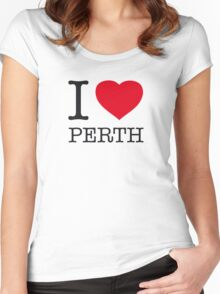 I ♥ PERTH Women's Fitted Scoop T-Shirt