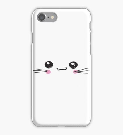 kawaii icon, cute attractive face, white background vector iPhone Case/Skin