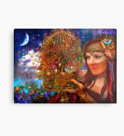 Her Butterfly Fairytale Metal Print