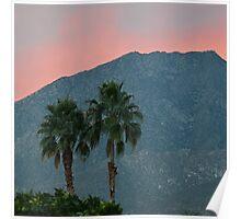 Palm Springs Dusk  Poster