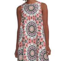 Flower mandala, Pink Tulips (Tulpen) A-Line Dress