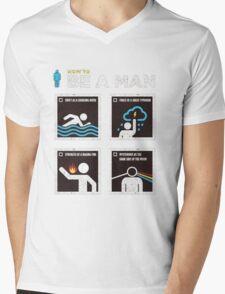 How to Be a Man Mens V-Neck T-Shirt