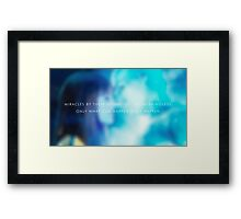 Miracles are meaningless. Framed Print