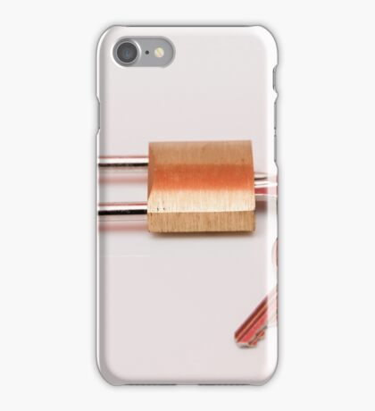 padlock with keys iPhone Case/Skin
