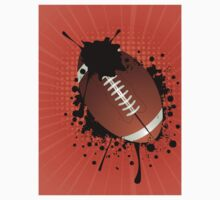 Rugby Ball on Rays Background Baby Tee