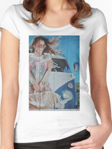 the Beauty or the Volkswagen Bus  Women's Fitted Scoop T-Shirt