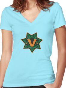 Vegan Police Women's Fitted V-Neck T-Shirt