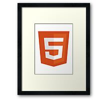 HTML 5 - Silicon Valley Framed Print