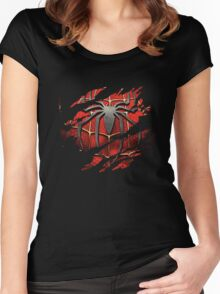 Spiderman Ripped Women's Fitted Scoop T-Shirt