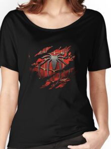 Spiderman Ripped Women's Relaxed Fit T-Shirt