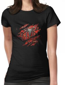 Spiderman Ripped Womens Fitted T-Shirt