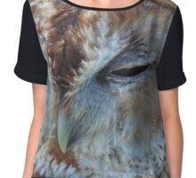Time For A Snooze - Tawny Owl Chiffon Top