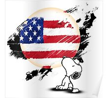 Snoopy See The American Moon Poster
