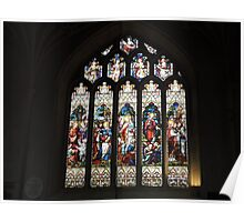 Bath Cathedral Stained Glass Poster