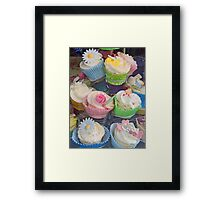 Colourful Cupcake Stand Framed Print
