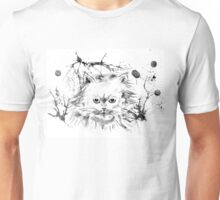 Persian Cat - Black and White Abstract Ink  Unisex T-Shirt