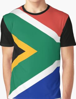 South African Springboks Flag Graphic T-Shirt