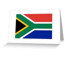 South African Springboks Flag Greeting Card