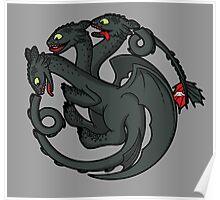 Toothless Targaryen Poster