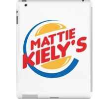 Mattie Kiely: King of the Burger iPad Case/Skin