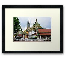 Wat Pho or the Temple of Reclining Buddha in Bangkok, Thailand Framed Print