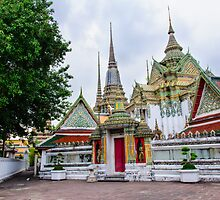 Wat Pho or the Temple of Reclining Buddha in Bangkok, Thailand by Stanciuc