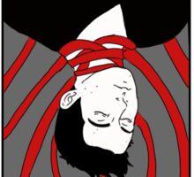 Sterek- The hanged man tarot card print Sticker