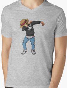 -DAB- Luffy  Mens V-Neck T-Shirt