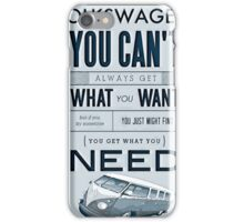 Get what you need Split screen iPhone Case/Skin