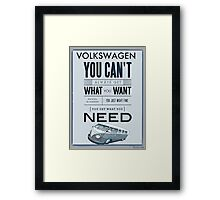 Get what you need Split screen Framed Print