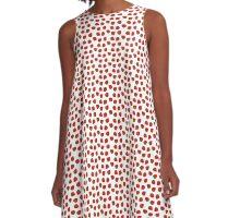 Strawberries & Cream A-Line Dress