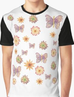 Flowers And Butterflies  Graphic T-Shirt