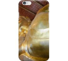 Face of Reclining Buddha gold statue in Wat Pho buddhist temple, Bangkok, Thailand iPhone Case/Skin