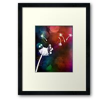 Dandelion in the air Framed Print