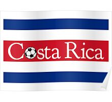 Costa Rica Football Poster
