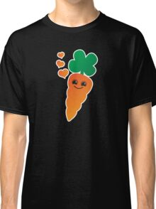 Cute kawaii orange carrot with cute hearts Classic T-Shirt