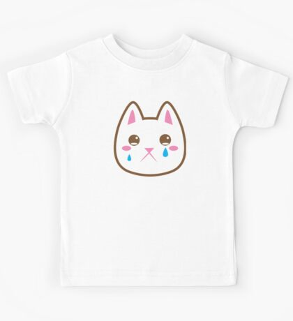 Super cute Chibi Kawaii kitten SAD :( Kids Tee